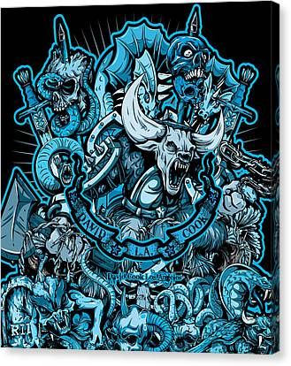 Dcla Skull Hell On Earth 2 Artwork Canvas Print by David Cook Los Angeles