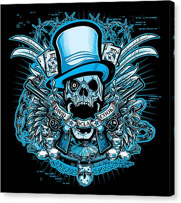Dcla Skull Viva Lost Wages Canvas Print by David Cook Los Angeles