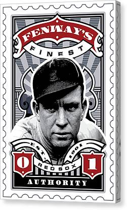 Dcla Tris Speaker Fenway's Finest Stamp Art Canvas Print by David Cook Los Angeles