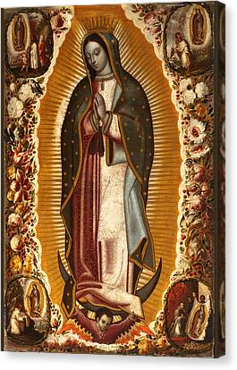 Canvas Print featuring the painting de Arellano Virgin by Robert Kernodle