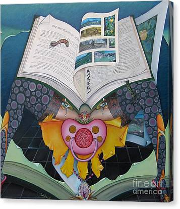 The Bookworm Canvas Print by Bob Ivens