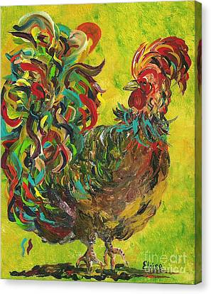 De Colores Rooster #2 Canvas Print by Eloise Schneider