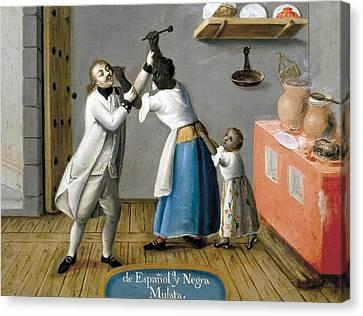 De Espa�ol Y Negra, Mulata. De Espa�ol Canvas Print by Everett