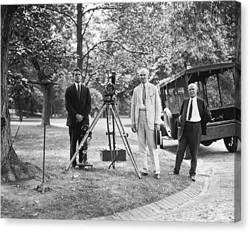 De Forest Pioneering Phonofilm, 1924 Canvas Print by Science Photo Library
