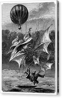 De Groof's Fatal Flight Canvas Print by Science Photo Library