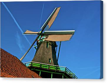 Canvas Print featuring the photograph De Kat Blue Skies by Jonah  Anderson