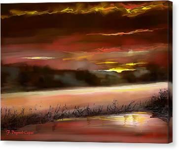De Nuit Canvas Print by Francoise Dugourd-Caput