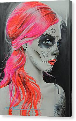 Sugar Skull - ' De Rerum Natura ' Canvas Print