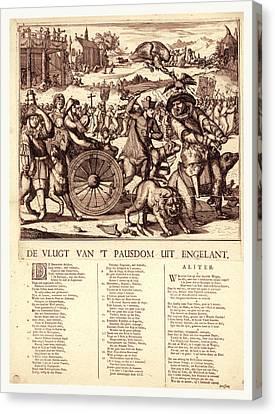 De Vlugt Van T Pausdom Uit Engelant, Hooghe Canvas Print