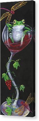 De-wine Intervention Canvas Print by Debbie McCulley