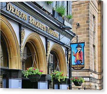 Deacon Brodies Tavern 6599 Canvas Print