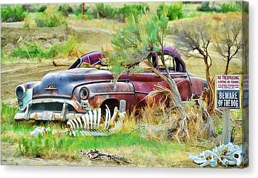 Dead Car Canvas Print