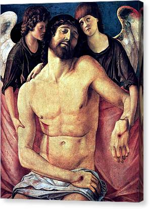 Canvas Print featuring the painting Dead Christ Supported By Angels 1485 Giovanni Bellini by Karon Melillo DeVega