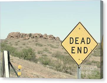 Canvas Print featuring the photograph Dead End by Utopia Concepts