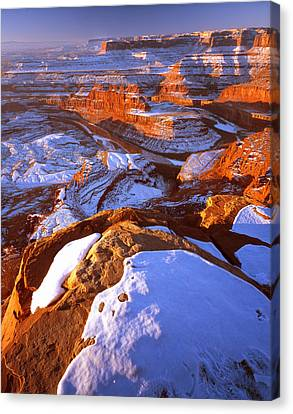 Dead Horse Point In Winter Canvas Print by Ray Mathis