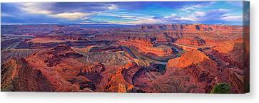 Dead Horse Point Panorama Canvas Print by Greg Norrell