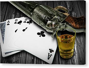 Dead Man's Poker Hand Canvas Print by Randall Nyhof