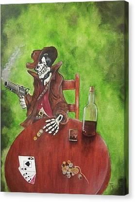 Dead Man's Poker Party Canvas Print
