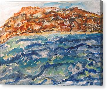 Dead Sea Reflections Canvas Print by Esther Newman-Cohen