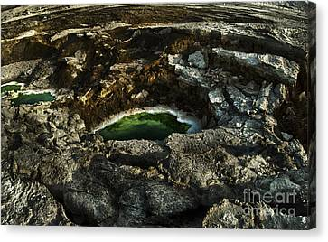 Dead Sea Sink Holes Canvas Print by Dan Yeger