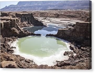Sink Hole Canvas Print - Dead Sea Sinkholes  by Eyal Bartov