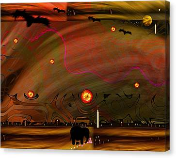 Dead Valley Year 5000  Canvas Print by Pepita Selles