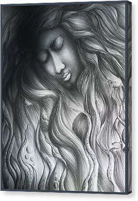 Dead Water Canvas Print by Abhilash Am