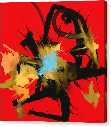 Canvas Print featuring the digital art Deadly Fight by Martina  Rathgens