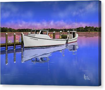 Deadrise Reflection Canvas Print by Patrick Belote