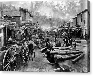 Deadwood South Dakota Around 1876 Canvas Print by Daniel Hagerman
