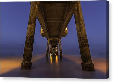 Deal Pier At Night Canvas Print