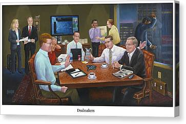 Dealmakers Canvas Print by Ten Doves Charity