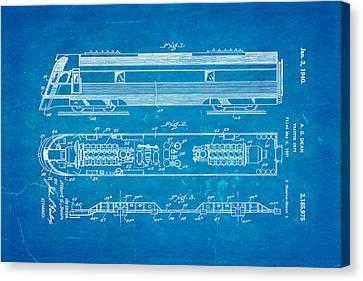 Dean Train Tractor Unit Patent Art 1940 Blueprint Canvas Print