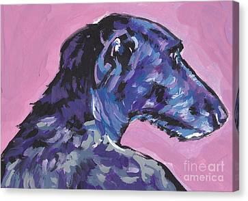 Dear Hound Canvas Print by Lea S