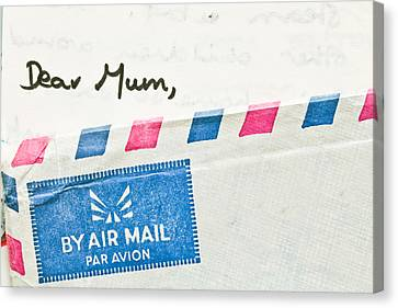 Dear Mum Canvas Print by Tom Gowanlock