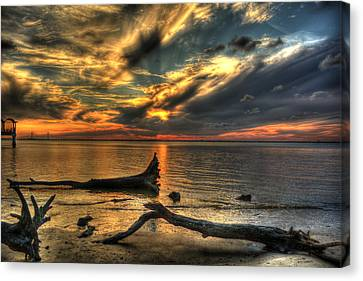 Death By Tide Canvas Print by Greg and Chrystal Mimbs