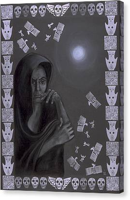 Death Crone Canvas Print by Diana Perfect
