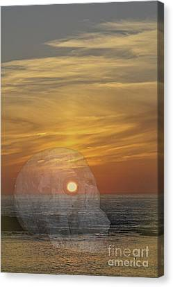 Sennen Cove Canvas Print - Death Of A Day by Terri Waters