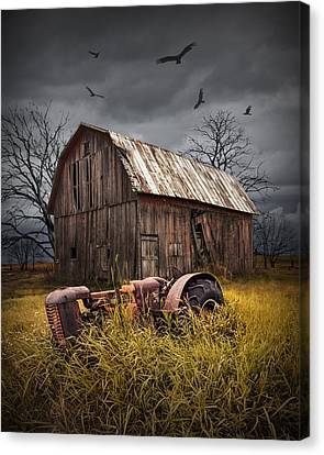 Death Of A Small Midwest Farm Canvas Print