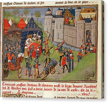 Death Of Bertrand Du Guesclin Canvas Print by British Library