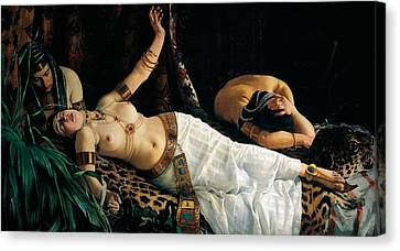 Death Of Cleopatra Canvas Print by Achilles Glisenti