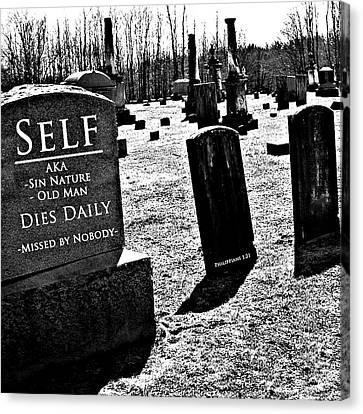Death Of Flesh Canvas Print by Stephanie Grooms