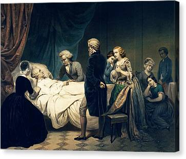 Potus Canvas Print - Death Of George Washington by Library Of Congress