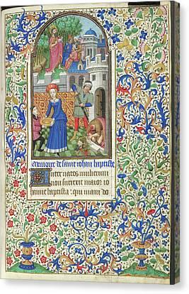 Death Of John The Baptist Canvas Print