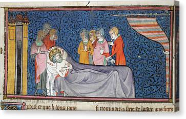 Death Of King Louis Ix Canvas Print by British Library