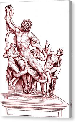 Death Of Laocoon Canvas Print by Collection Abecasis