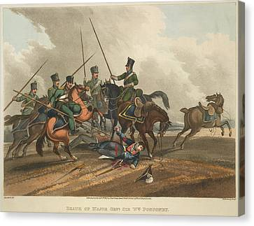 Lancer Canvas Print - Death Of Major Gen. Ponsonby by British Library