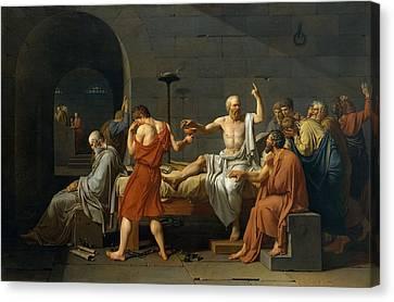 Death Of Socrates Canvas Print by Jacques Louis David