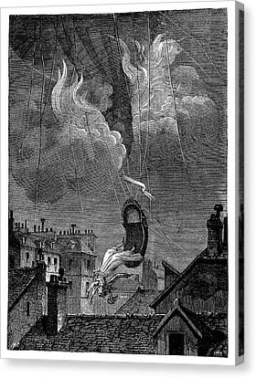 Death Of Sophie Blanchard Canvas Print by Science Photo Library