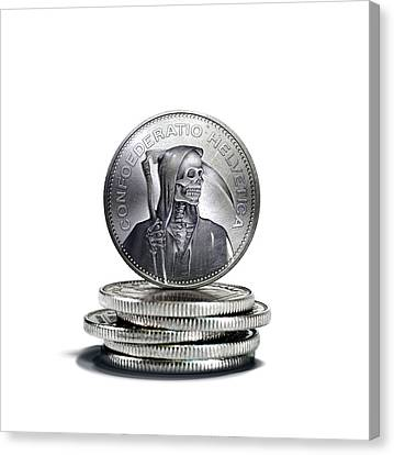 Death Of Swiss Franc Canvas Print by Smetek